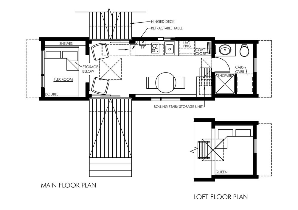 Tiny House Floor Plans - Dragonfly by Utopian Villas