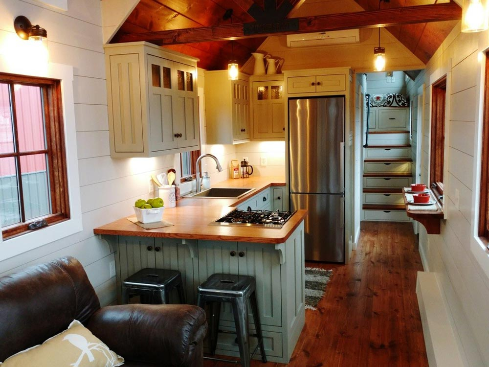 Kitchen with Upper Cabinets - Denali by Timbercraft Tiny Homes