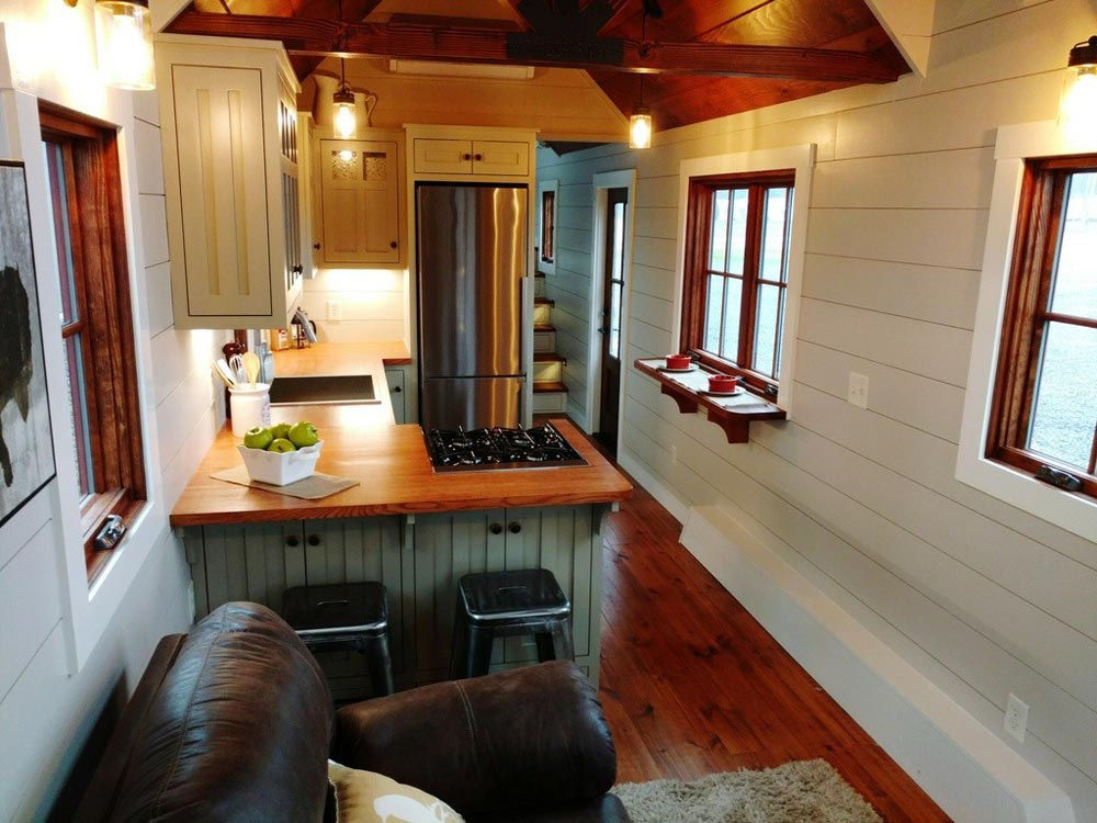 Bar Serving Area - Luxury Farmhouse by Timbercraft Tiny Homes