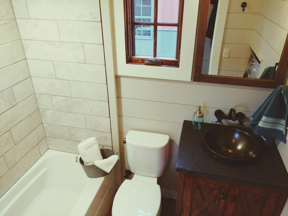Bathroom - Luxury Farmhouse by Timbercraft Tiny Homes