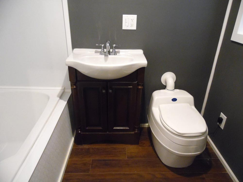 Vanity and Composting Toilet - Man Cave by Upper Valley Tiny Homes