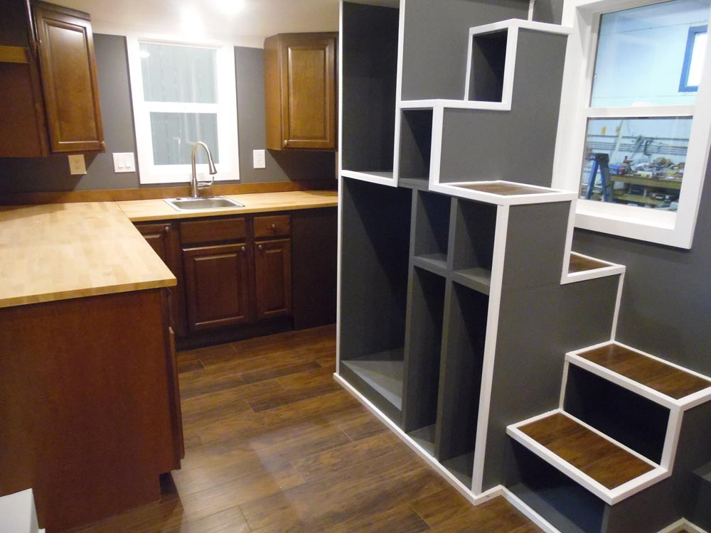 Unique Storage Stairs - Man Cave by Upper Valley Tiny Homes