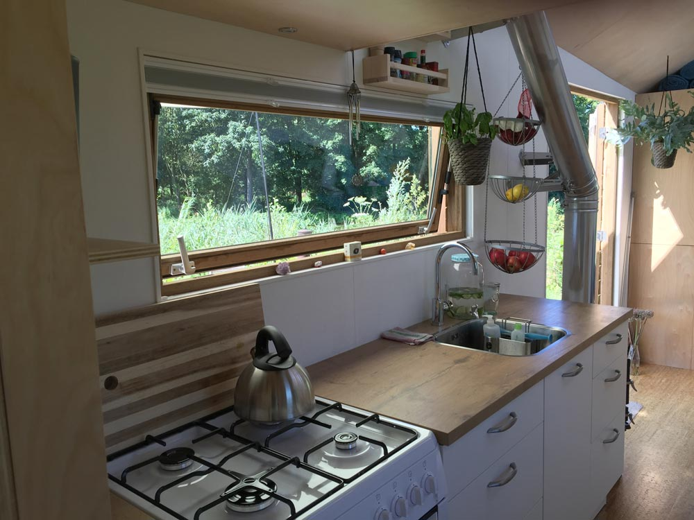 Large Kitchen Window - Marjolein's Tiny House