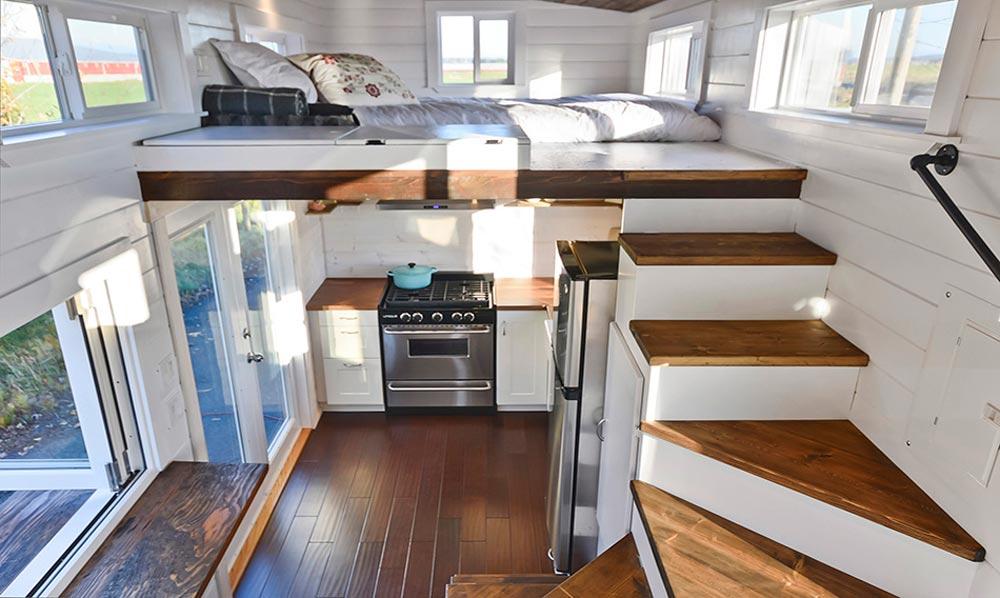 Bedroom Loft - Custom House by Mint Tiny Homes