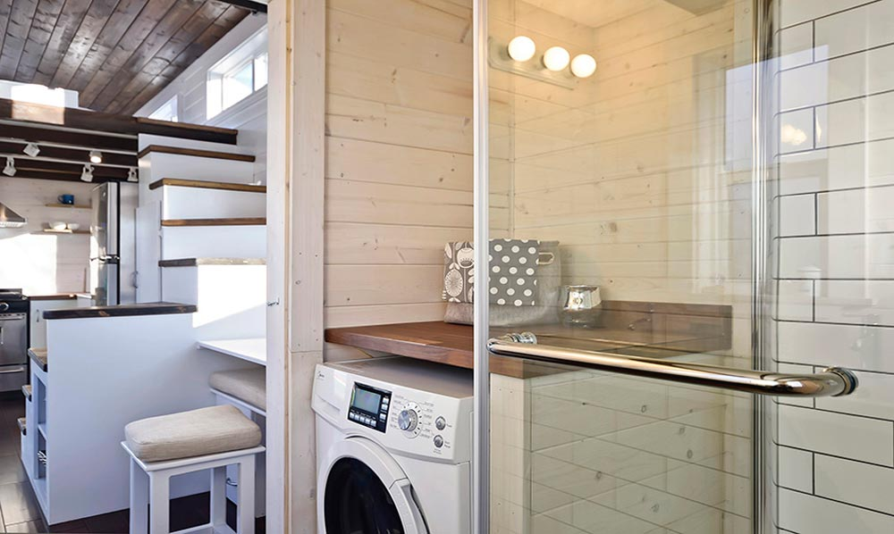 Bathroom with Washer/Dryer - Custom House by Mint Tiny Homes