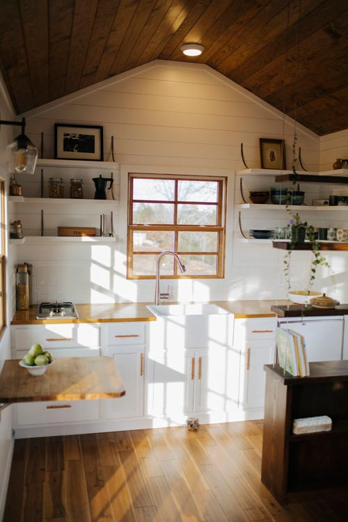 Kitchen with Open Shelves - Monocle by Wind River Tiny Homes
