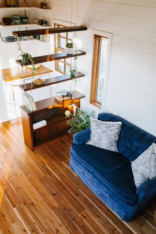Suspended Cable Shelving - Monocle by Wind River Tiny Homes
