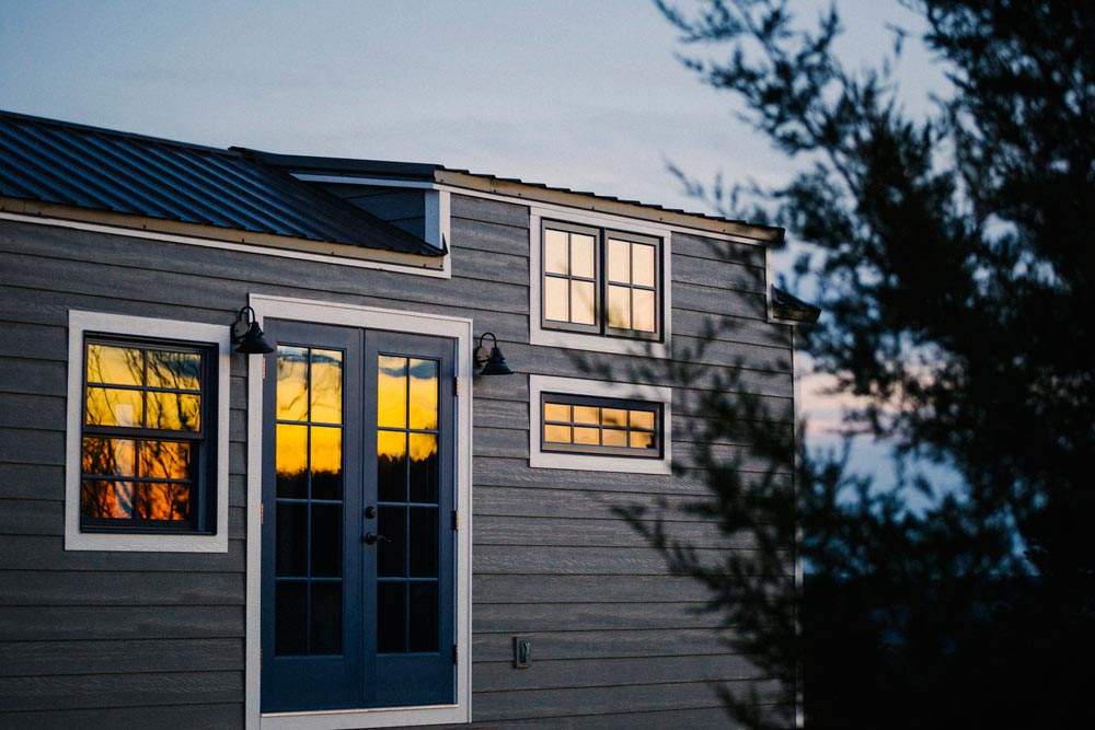 Tiny House at Dusk - Monocle by Wind River Tiny Homes
