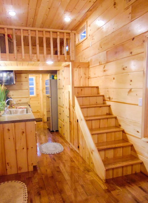 Storage Stairs - French Quarter by Incredible Tiny Homes
