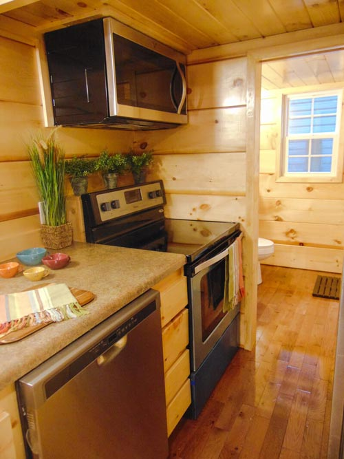 Electric Range & Microwave - French Quarter by Incredible Tiny Homes