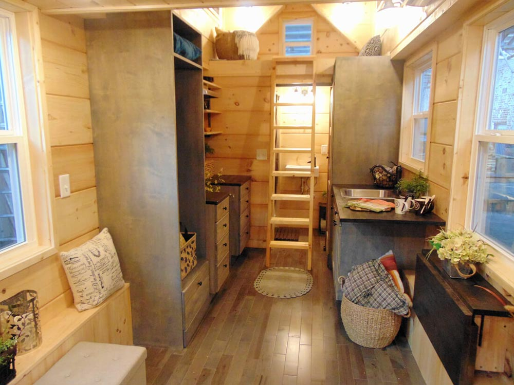 Storage Loft Above Bathroom - Rookwood Cottage by Incredible Tiny Homes