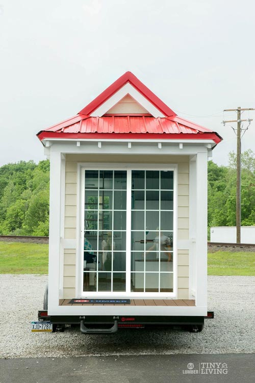 Sliding Front Door - Red Shonsie by 84 Lumber