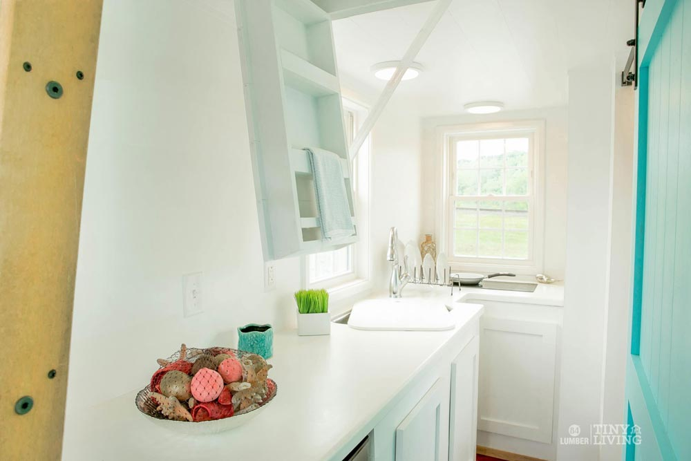 White Solid Surface Counter - Red Shonsie by 84 Lumber