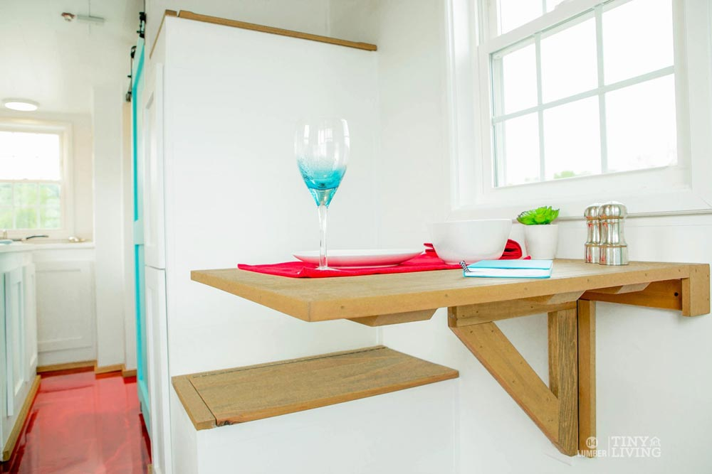 Fold Down Table - Red Shonsie by 84 Lumber