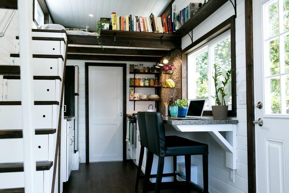 Kitchen & Dining Area - Shannon Black's Tiny House