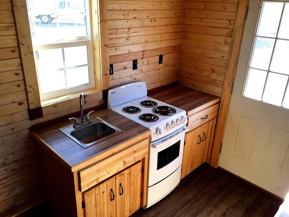 Custom Kitchen Cabinets - Sonoma by SunWest Tiny Homes