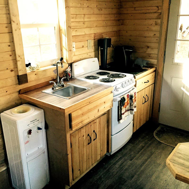 Kitchen Sink & Range - Sonoma by SunWest Tiny Homes