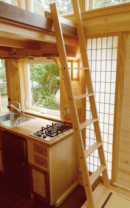 Kitchen & Loft Ladder - Tea House by Oregon Cottage Company