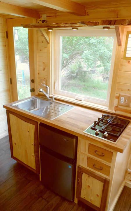 Kitchen Sink & Two Burner Cooktop - Tea House by Oregon Cottage Company
