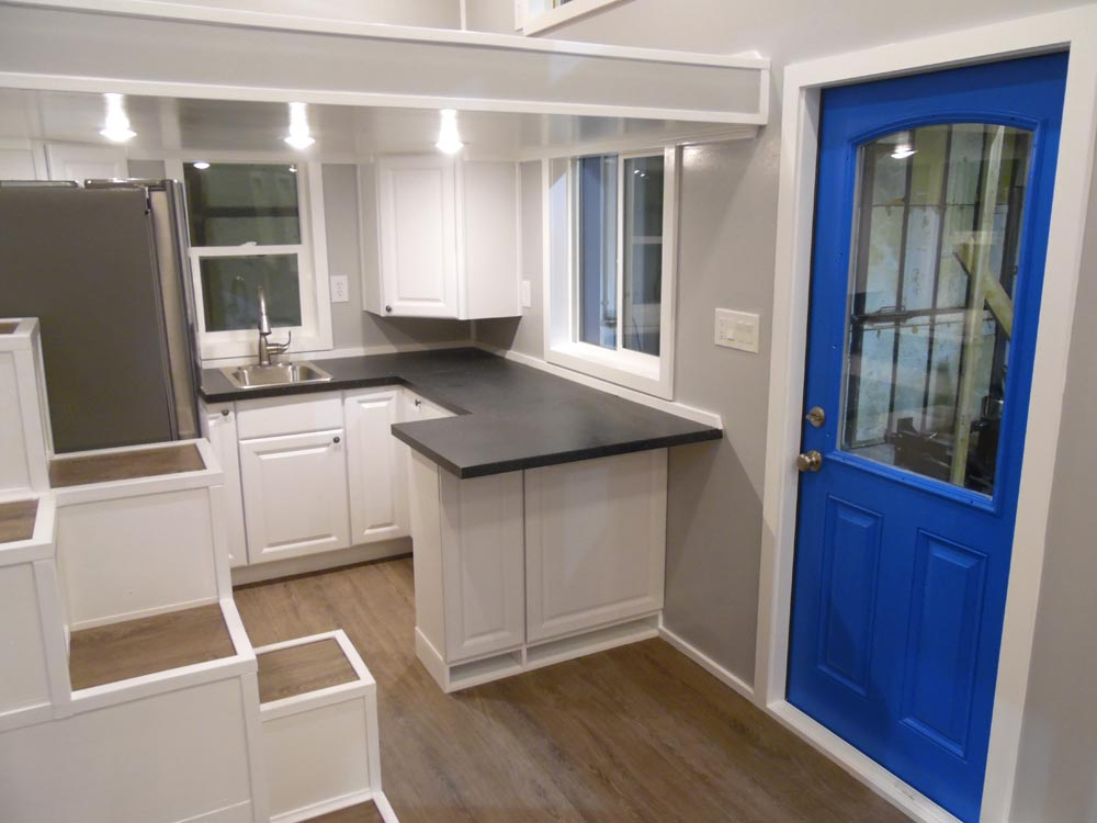 Kitchen & Entryway - Two Bedroom by Upper Valley Tiny Homes