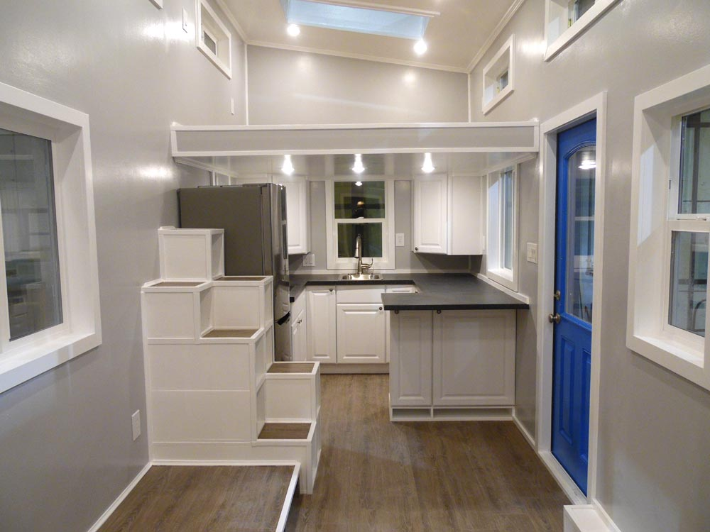 Kitchen & Living Area - Two Bedroom by Upper Valley Tiny Homes