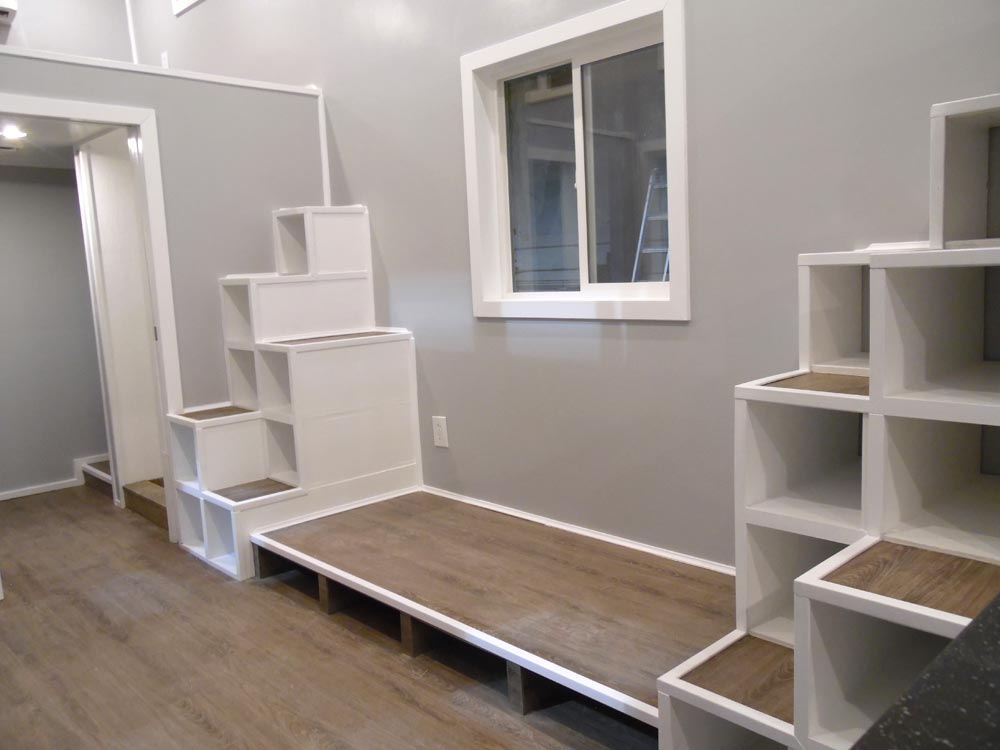 Storage Stairs - Two Bedroom by Upper Valley Tiny Homes