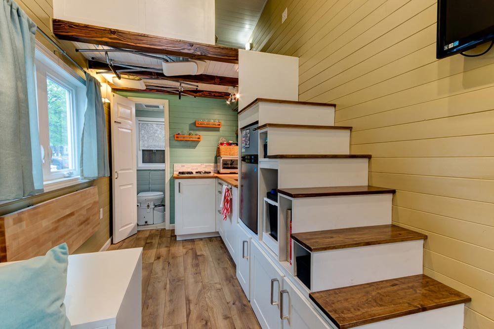 Storage Stairs - Wanderlust Tiny House