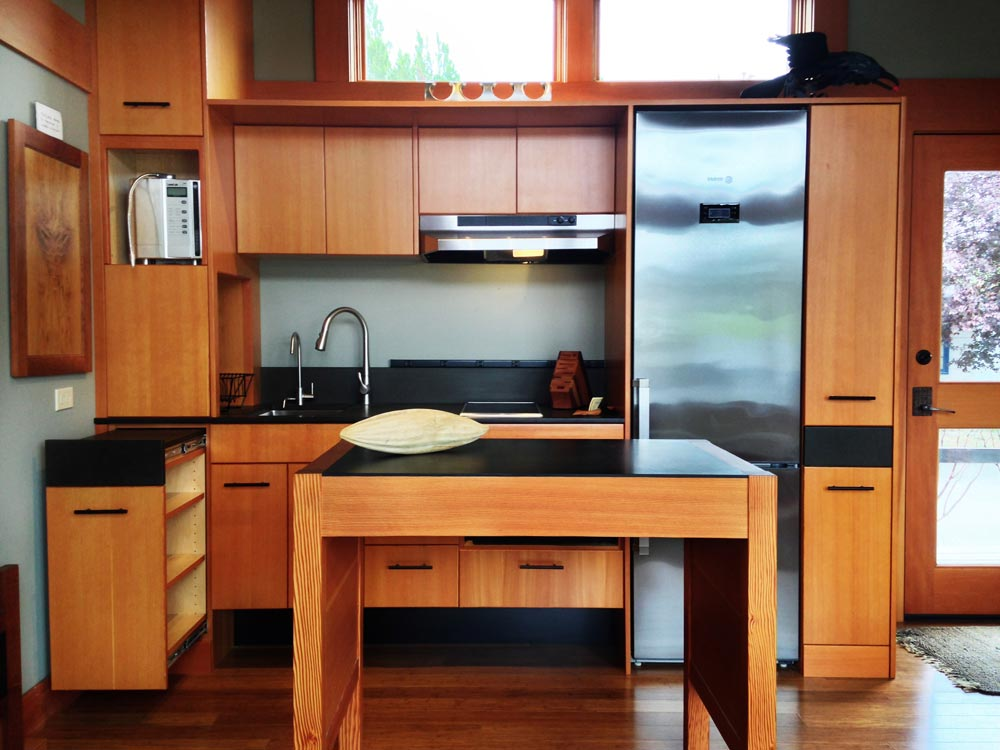 Custom Fir Cabinets - Waterhaus by Greenpod Development