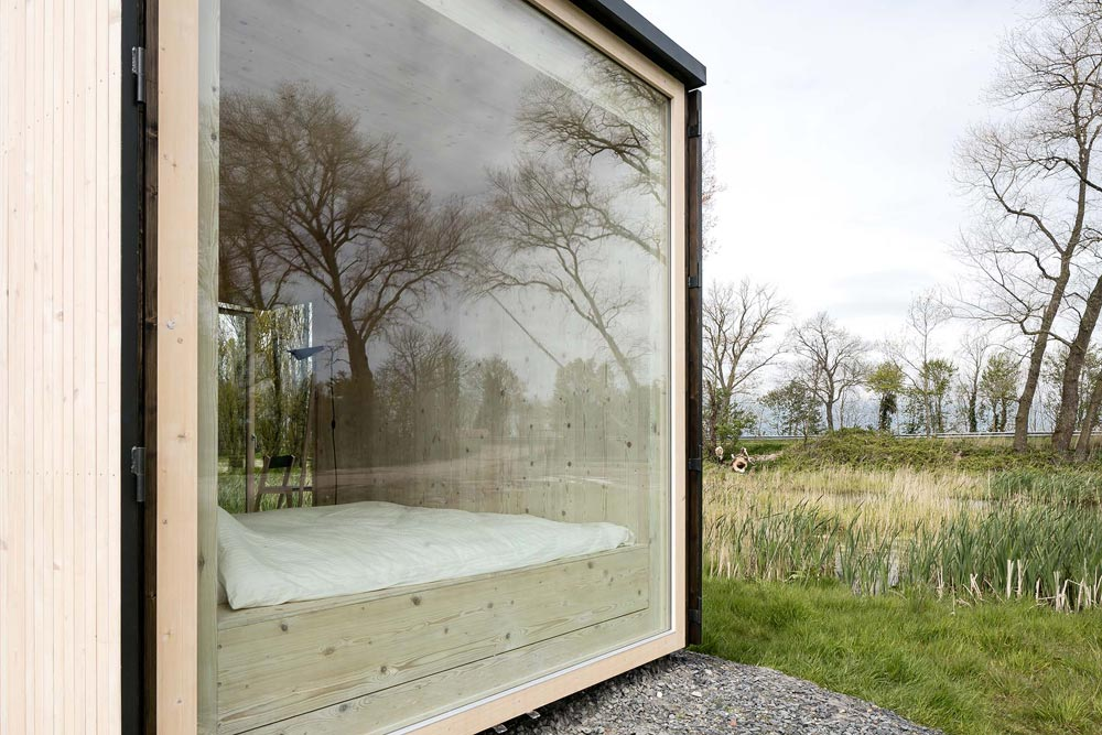 Panoramic Picture Window - Ark Shelter Tiny House