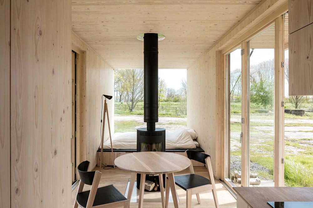 Table and Chairs - Ark Shelter Tiny House