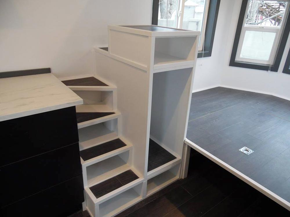 Storage Stairs - Barn Style by Upper Valley Tiny Homes