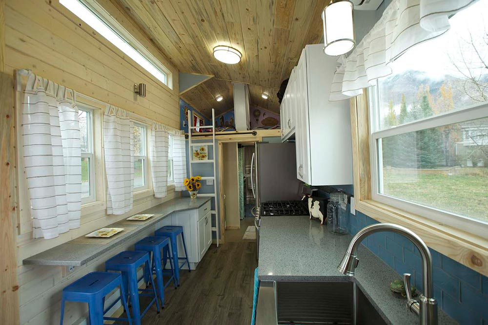 Kitchen and Dining Area - Brown Bear by Alpine Tiny Homes