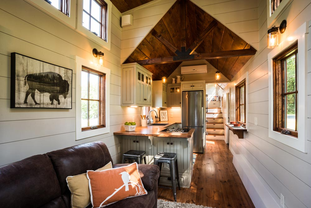 Living Room & Kitchen - Denali by Timbercraft Tiny Homes