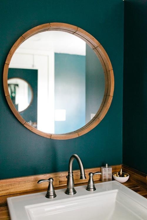 Teal Bathroom - Golden by American Tiny House