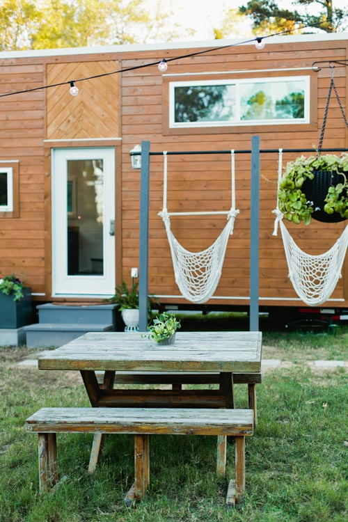Hammocks & Table - Golden by American Tiny House