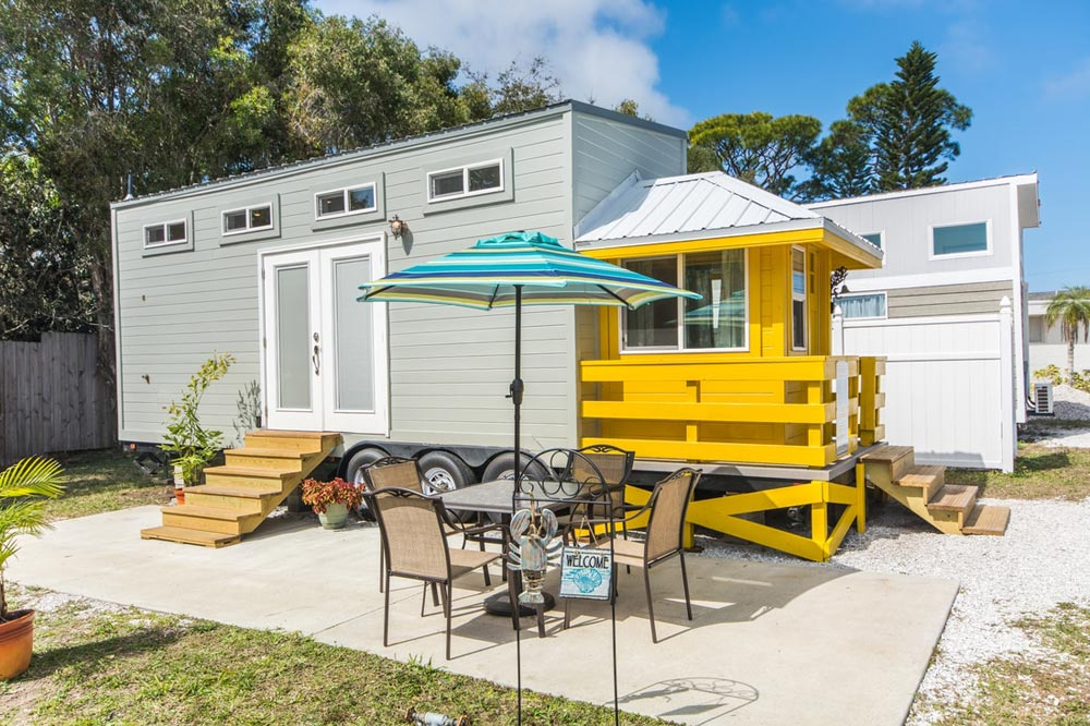 Yellow Lifeguard by Upper Valley Tiny Homes