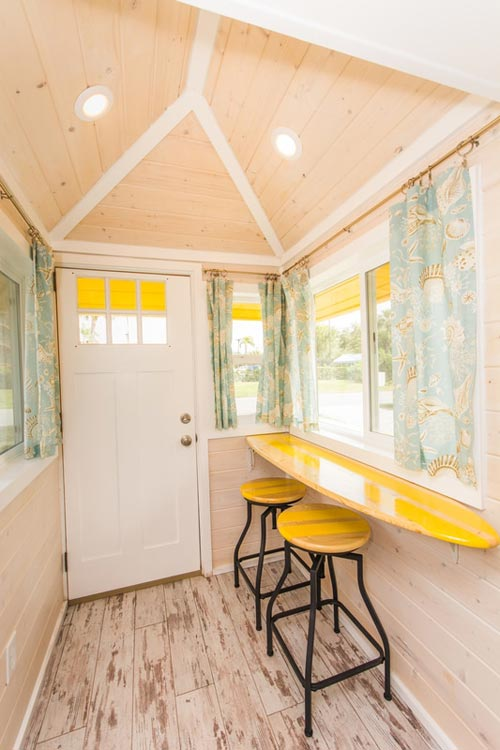 Entryway - Yellow Lifeguard by Upper Valley Tiny Homes
