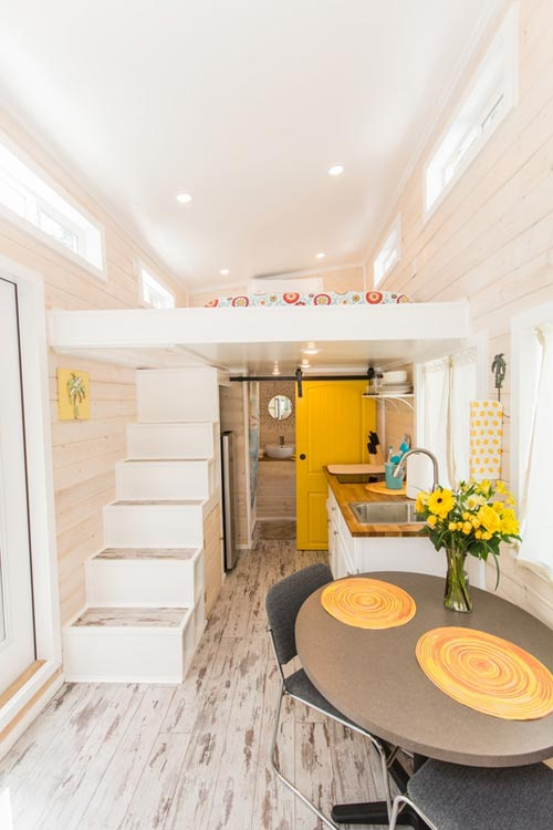 Tiny House Interior - Yellow Lifeguard by Upper Valley Tiny Homes