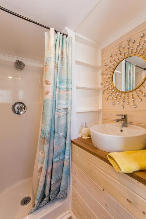 Bathroom - Yellow Lifeguard by Upper Valley Tiny Homes