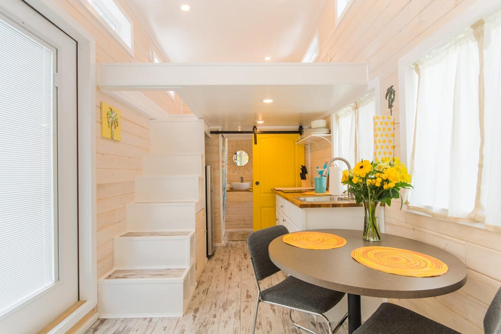 Dining Area - Yellow Lifeguard by Upper Valley Tiny Homes