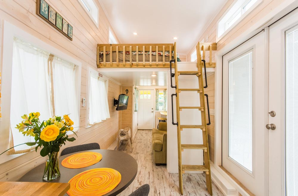 Loft Ladder - Yellow Lifeguard by Upper Valley Tiny Homes