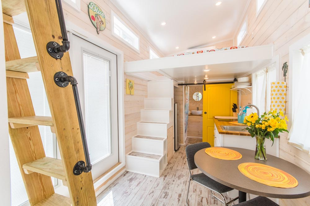 French Doors - Yellow Lifeguard by Upper Valley Tiny Homes