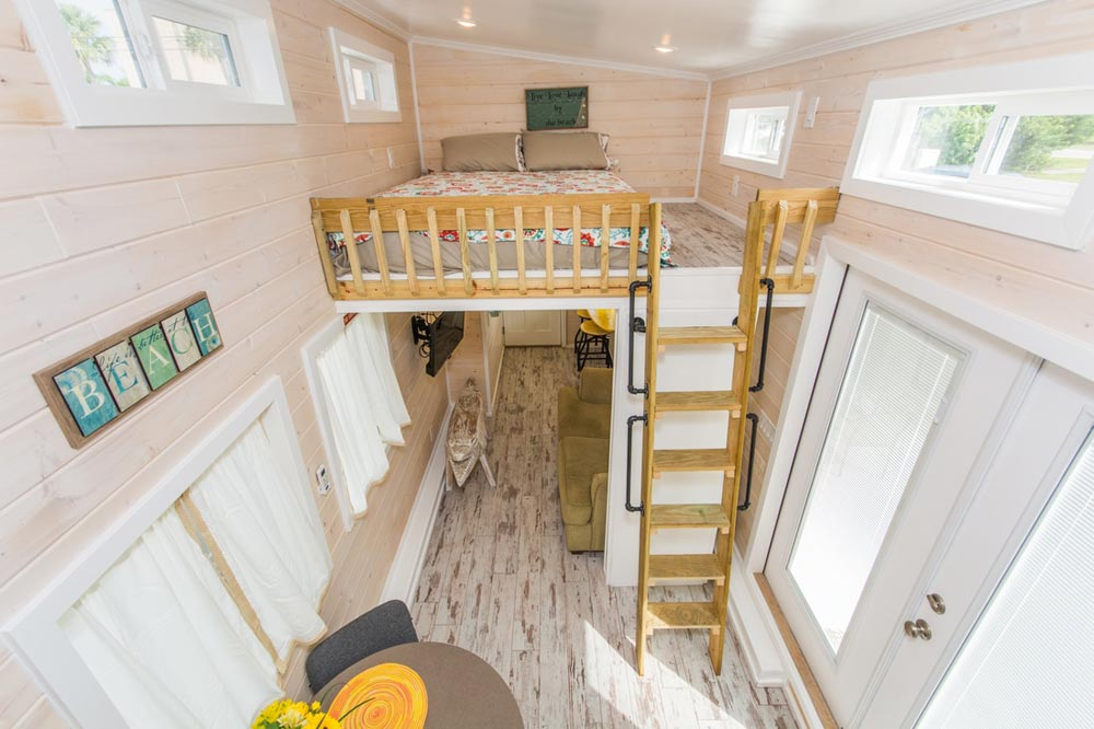 Aerial View - Yellow Lifeguard by Upper Valley Tiny Homes