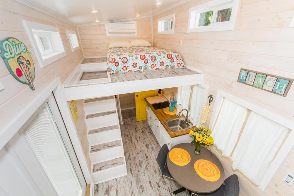 Bedroom Loft - Yellow Lifeguard by Upper Valley Tiny Homes
