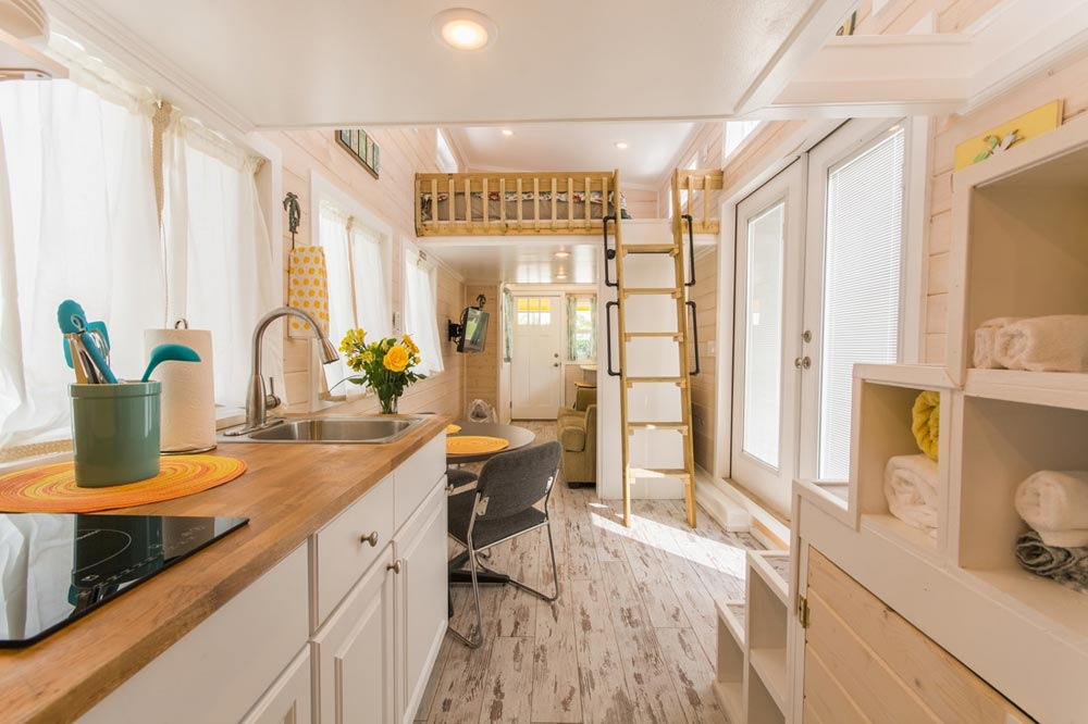 Kitchen & Dining - Yellow Lifeguard by Upper Valley Tiny Homes
