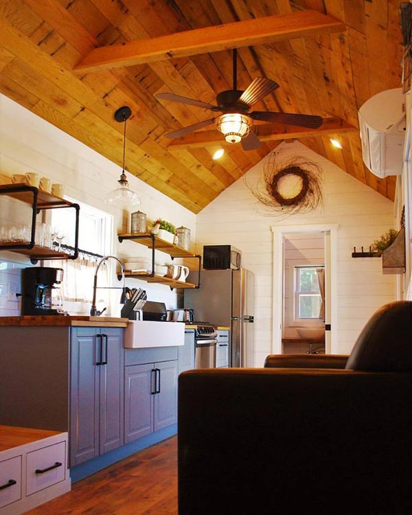 Reclaimed Oak - Modern Farmhouse Take Three by Liberation Tiny Homes