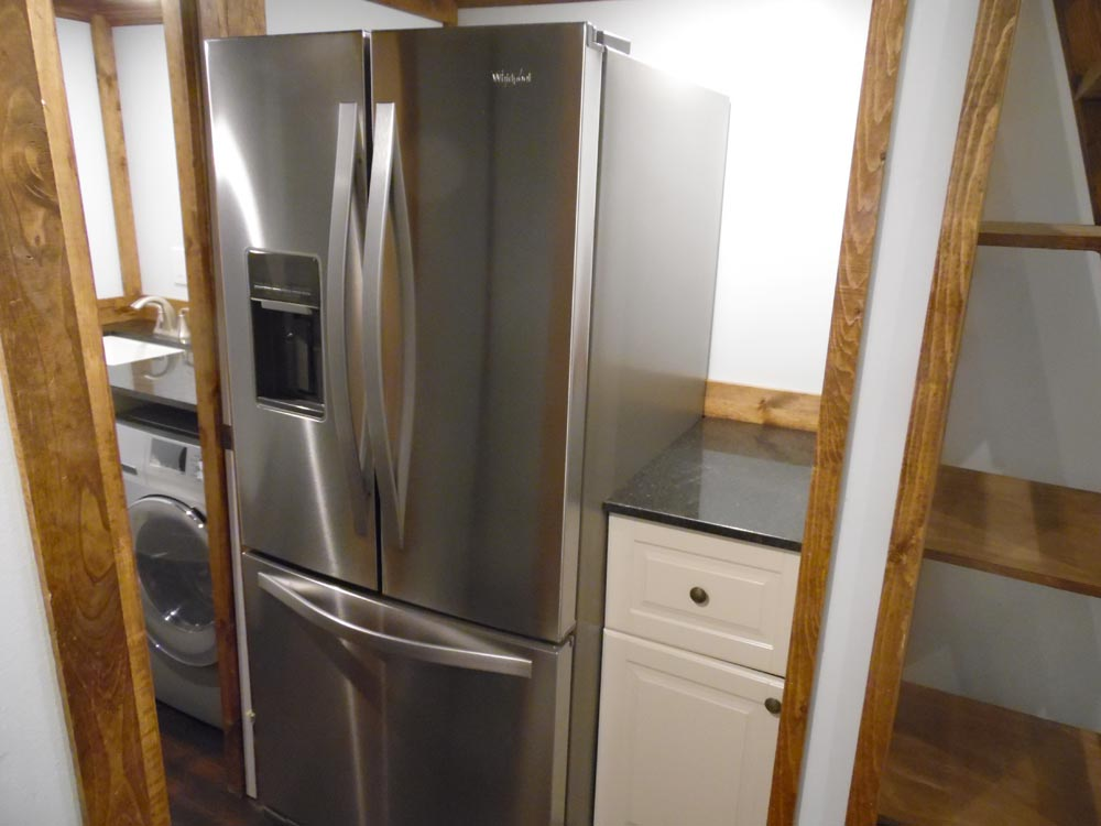 French Door Refrigerator - 27' Off Grid by Upper Valley Tiny Homes