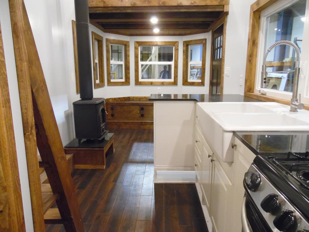 Kitchen & Living Area - 27' Off Grid by Upper Valley Tiny Homes