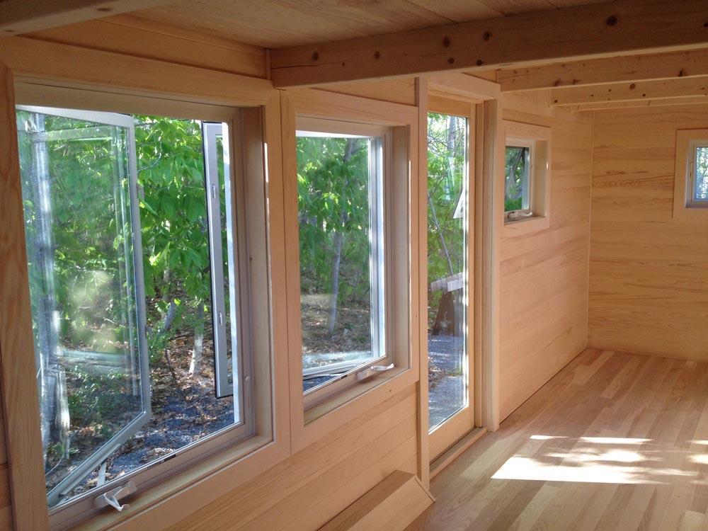 Large Windows - Refuge House by Full Moon Tiny Shelters