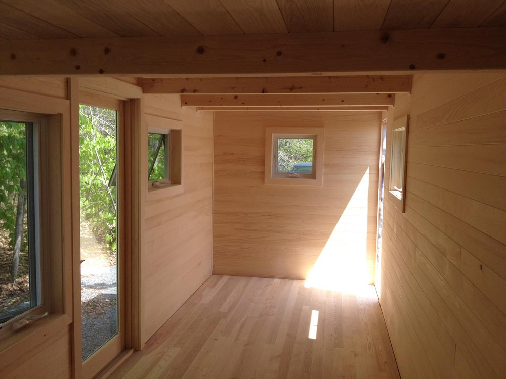 Natural Wood Interior - Refuge House by Full Moon Tiny Shelters